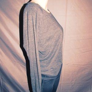 Comfy Gray Off-Shoulder Sweatshirt